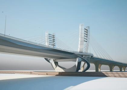 Губернатор Санкт-Петербурга Г.С.Полтавченко присвоил название «Мост Бетанкура» строящемуся мосту через Малую Неву