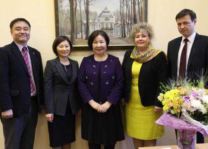 РГПУ им. А.И. Герцена посетила делегация Национального университета Чонбук (Южная Корея)