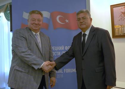 Ректор СПбПУ А.И. Рудской впервые выступил в качестве президента Общества дружбы с Турцией