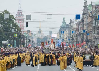 СПХФУ на Общегородском крестном ходе