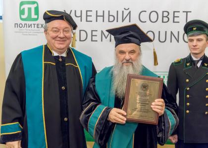 Митрополит Санкт-Петербургский и Ладожский Варсонофий стал Почетным доктором СПбПУ