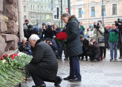 ВСанкт-Петербурге почтили память погибших при террористическом акте