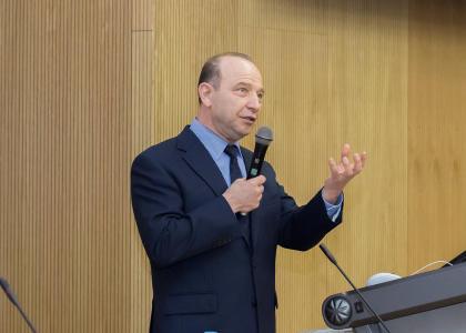 Ведущий ученый в области систем стратегического управления Владимир Квинт прочитал лекцию в СПбПУ