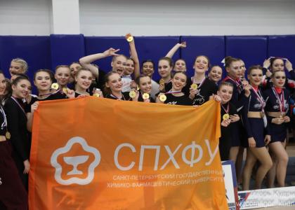 Команда СПХФУ по чирлидингу радует своими победами