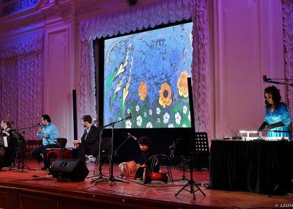 Музыка и живопись впервые соединились в Белом зале