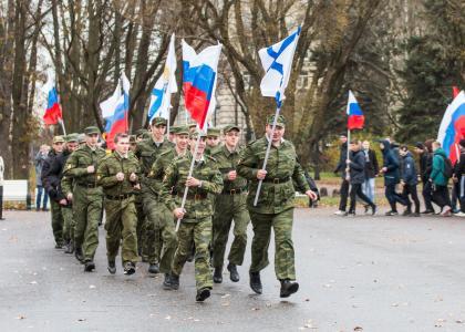 Студенты ВОЕНМЕХА отметили День народного единства спортивным мероприятием в Московском Парке Победы