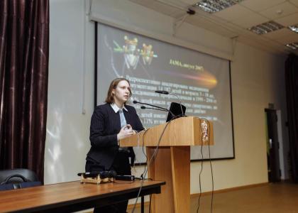 Лекция по вопросам межнациональной толерантности для студентов Педиатрического университета.